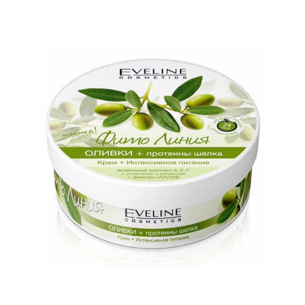 Крем для тела Eveline Фито линия оливки протеины шелка