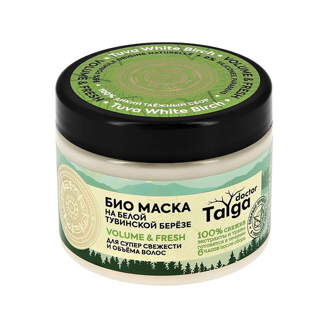 Маска для волос Natura Siberica Doctor Taiga на белой тувинской березе (для супер свежести и объема волос)
