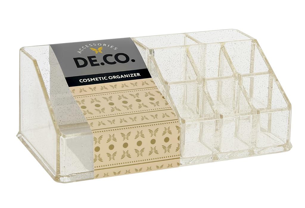 Органайзер для косметики и аксессуаров DE.CO. rose gold открытый (малый)