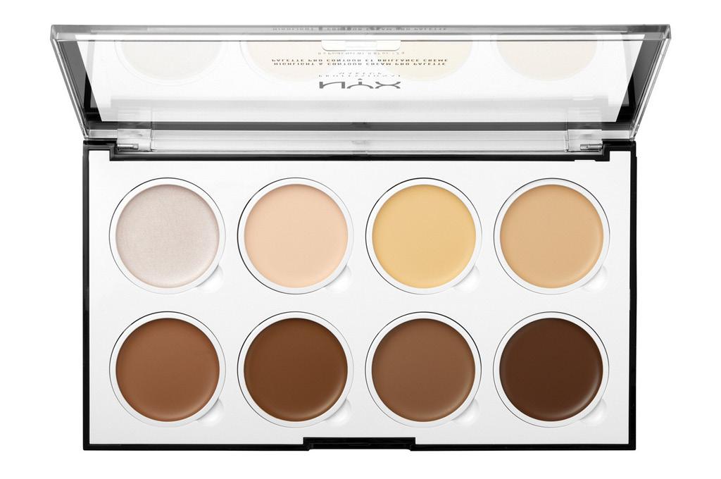 Палетка для контурирования Nyx Professional Makeup Highlight & Contour Cream Pro Palette тон 01 кремовая