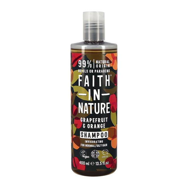 Шампунь для волос Faith In Nature укрепляющий с маслами грейпфрута и апельсина (для нормальных и жирных волос)