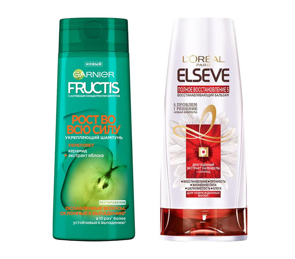 Шампунь для волос Garnier Fructis Рост во всю силу (для ослабленных волос, склонных к выпадению)