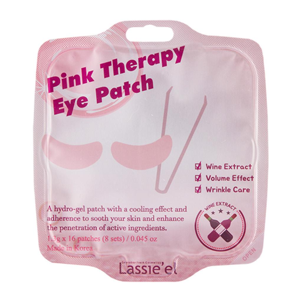 Патчи для глаз гидрогелевые с экстрактом вина против морщин Pink Therapy Lassie'El