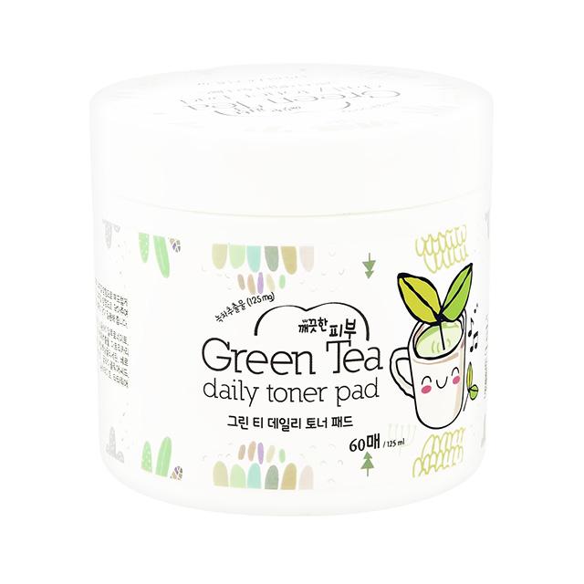 Диски для лица отшелушивающие с экстрактом зеленого чая и AHA-кислотами Esfolio, 60 шт.