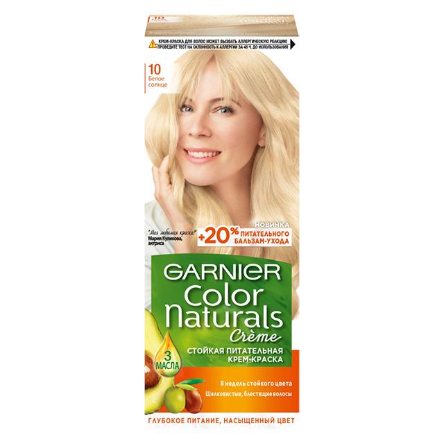 Краска для волос Garnier Color Naturals тон 10 (Белое солнце)