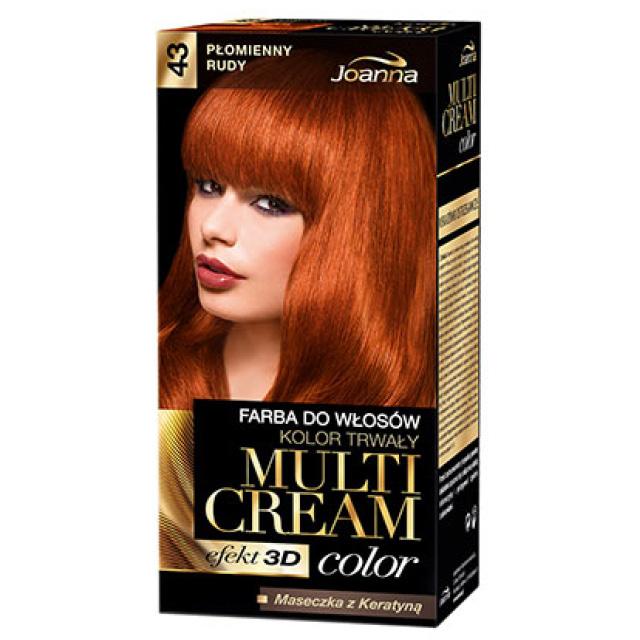 Краска для волос Joanna Multi Cream тон Пламенный рыжий