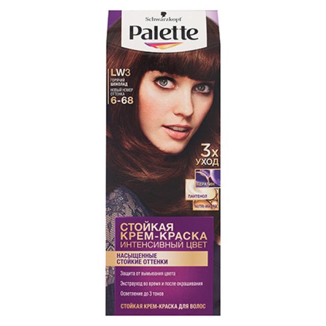 Крем-краска для волос Palette тон LW3 (Горячий шоколад)