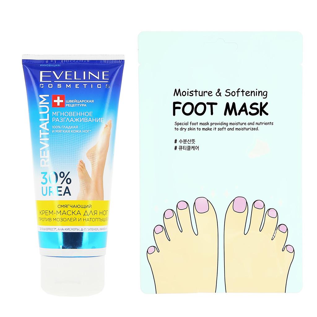 Крем-маска для ног Eveline Revitalum смягчающий против мозолей и натоптышей