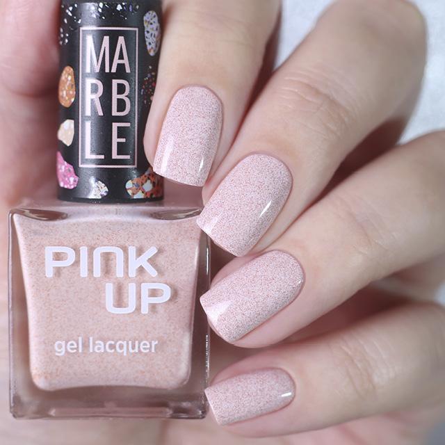 Лак для ногтей Pink Up Limited Marble тон 01 фото