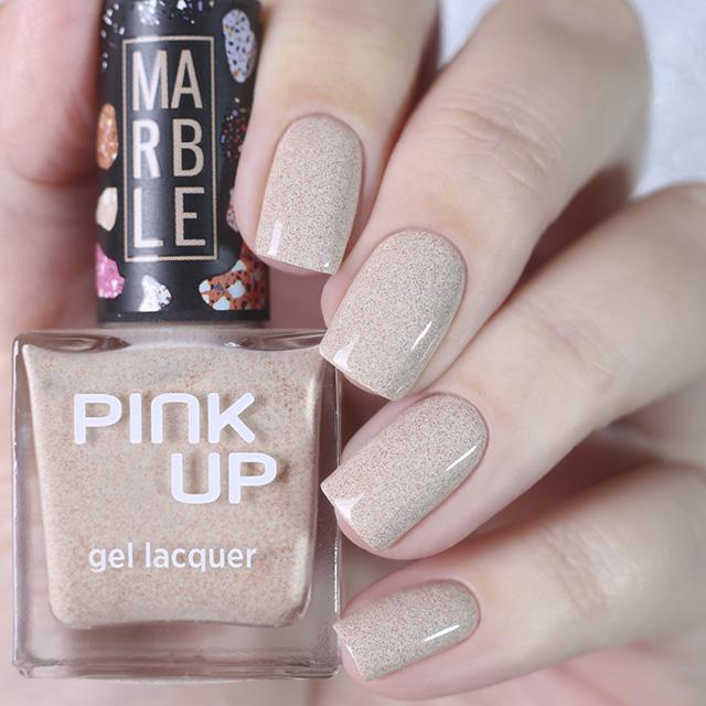 Лак для ногтей Pink Up Limited Marble тон 02 фото