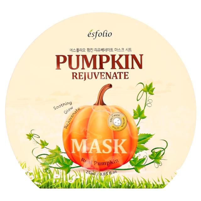 Маска для лица Esfolio Real Pumpkin с экстрактом тыквы (омолаживающая)