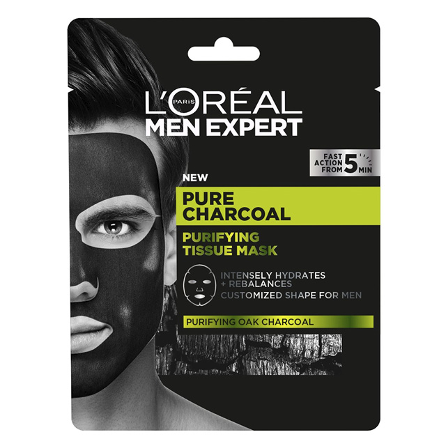 Маска для лица L'Oreal Men Expert Pure Power мужская очищающая с черным углем