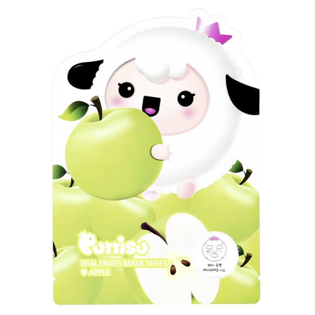 Маска для лица Puttisu детская (яблоко)
