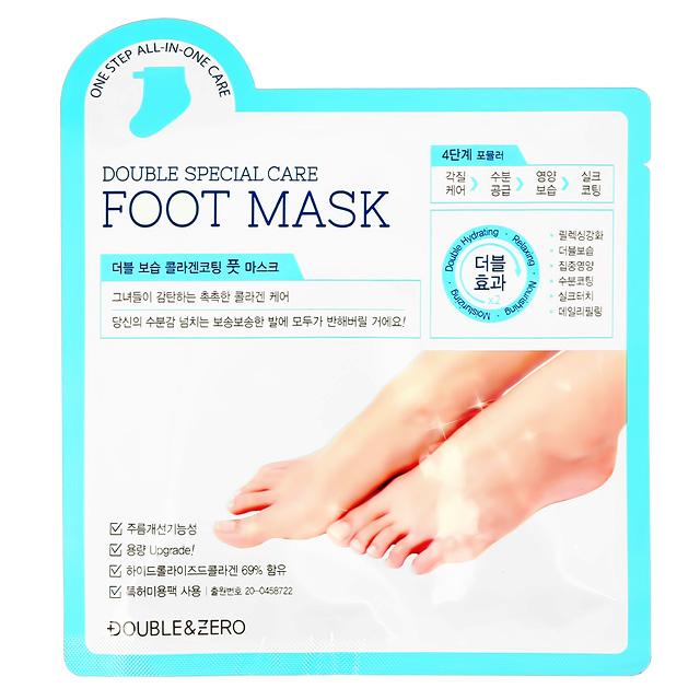 Маска-носочки для ног Double & Zero увлажняющая