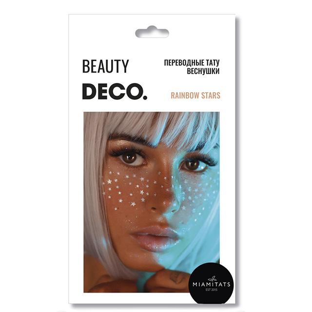 Набор переводных тату-веснушек DECO. By Miami Tattoos (Rainbow Stars)
