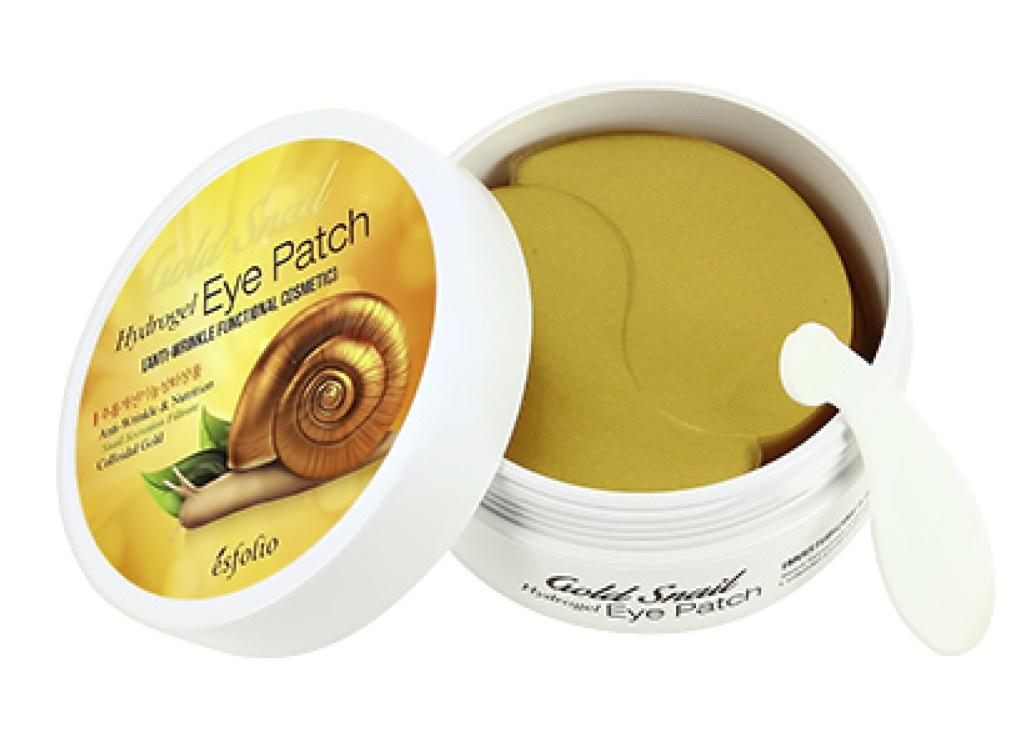 Патчи для глаз гидрогелевые с экстрактом секрета улитки Gold Snail Esfolio