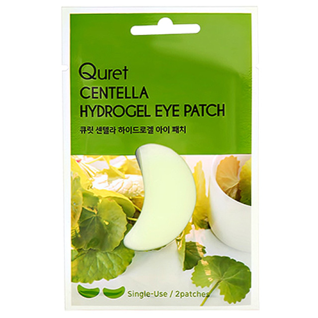 Патчи для глаз Quret гидрогелевые с экстрактом азиатской центеллы