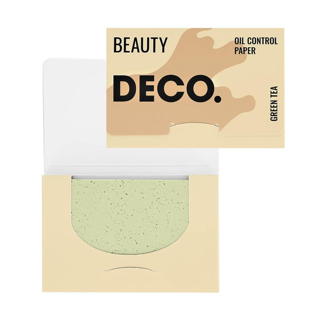 Салфетки для лица DECO. матирующие с экстрактом зеленого чая