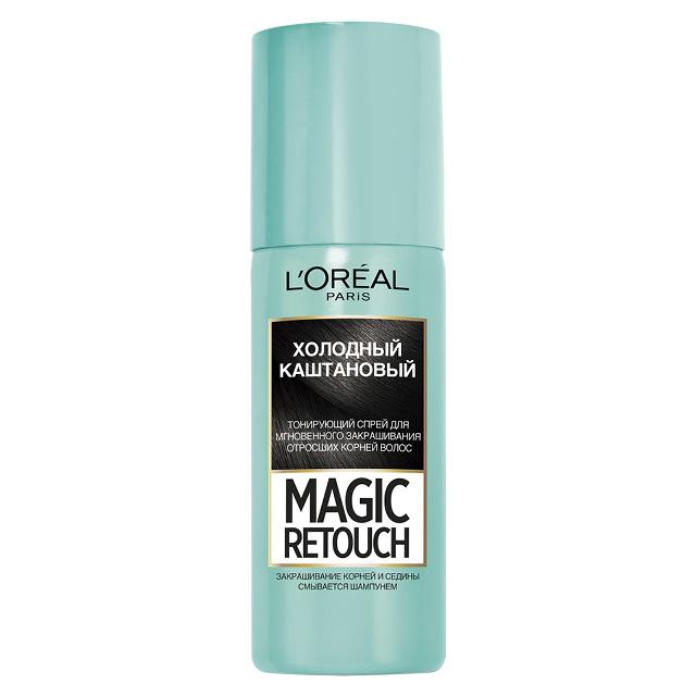 Спрей для волос тонирующий L'Oreal Magic Retouch тон 8 (холодный каштановый)