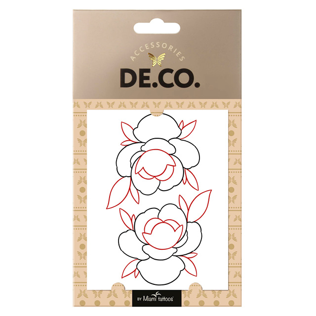 Татуировка для тела DECO. By Maxim Rtatt By Miami Tattoos переводная (Flower)