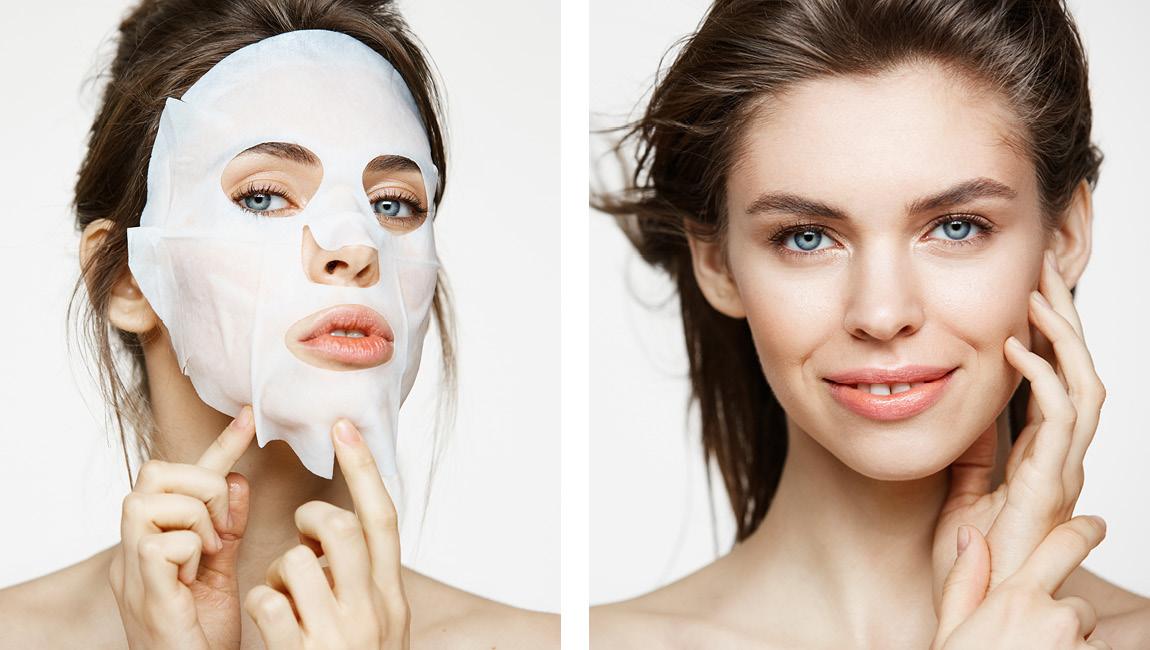 Тканевые маски обычно наносят на сухую кожу