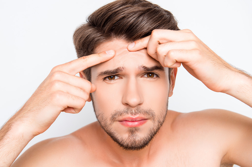 Уход за проблемной кожей мужчины