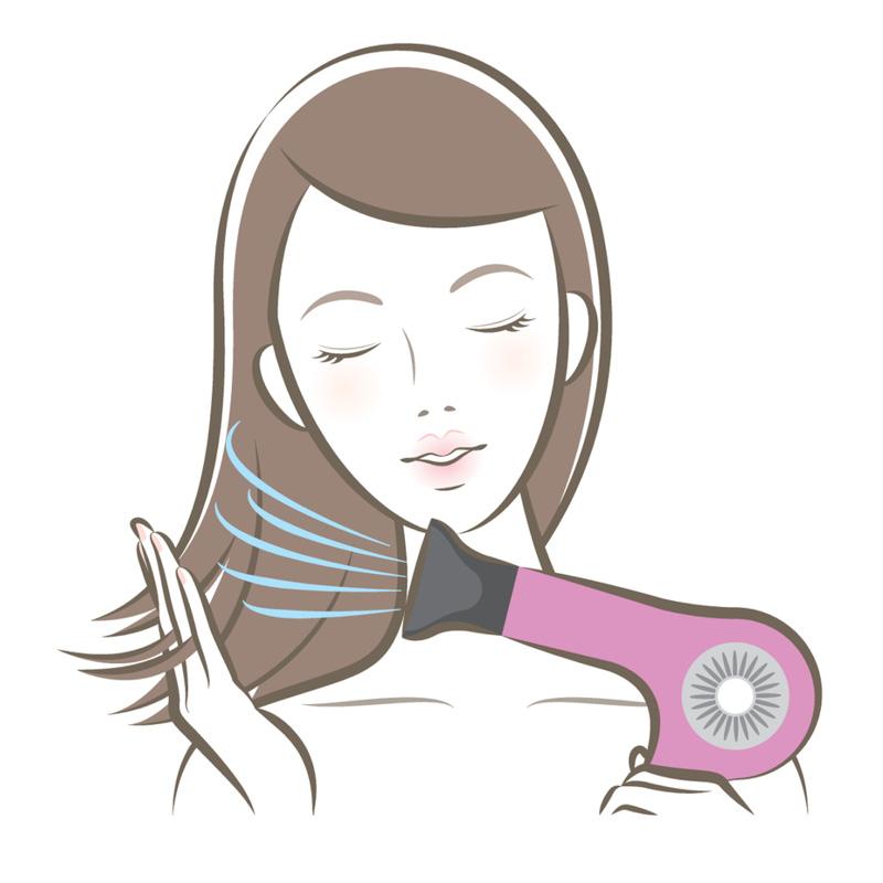 Этапы выпрямления волос феном 2