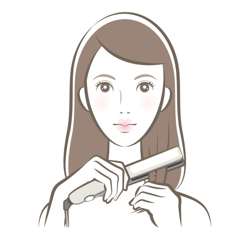 Этапы выпрямления волос плойкой 3