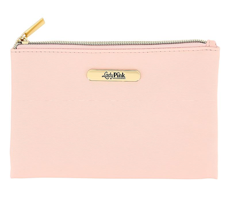 Косметичка Lady Pink Basic Must Have плоская (пудровая)