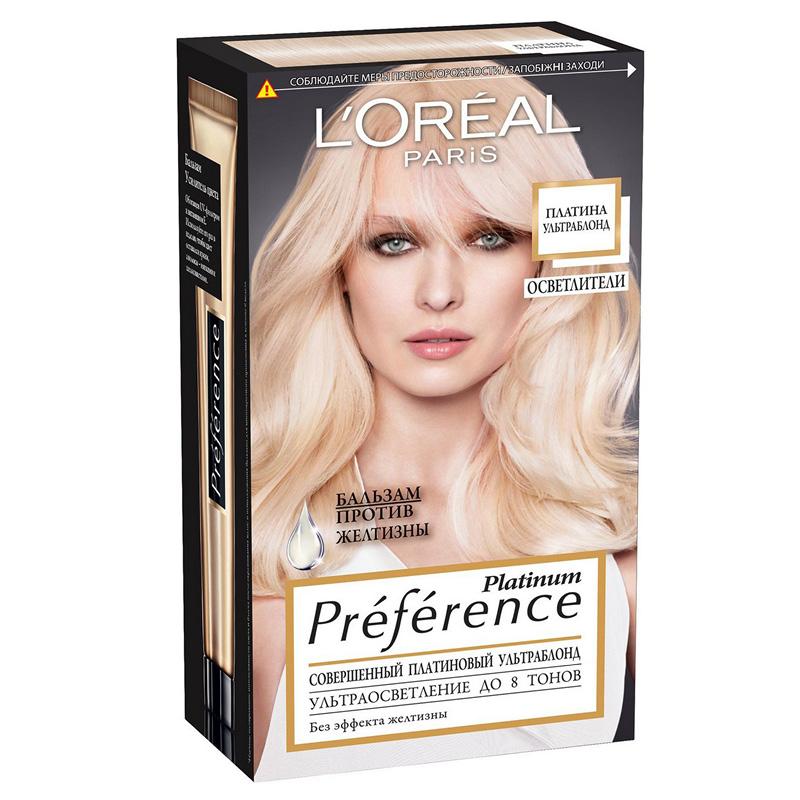 Краска для волос Preference, «Платина ультраблонд», L'Oréal Paris