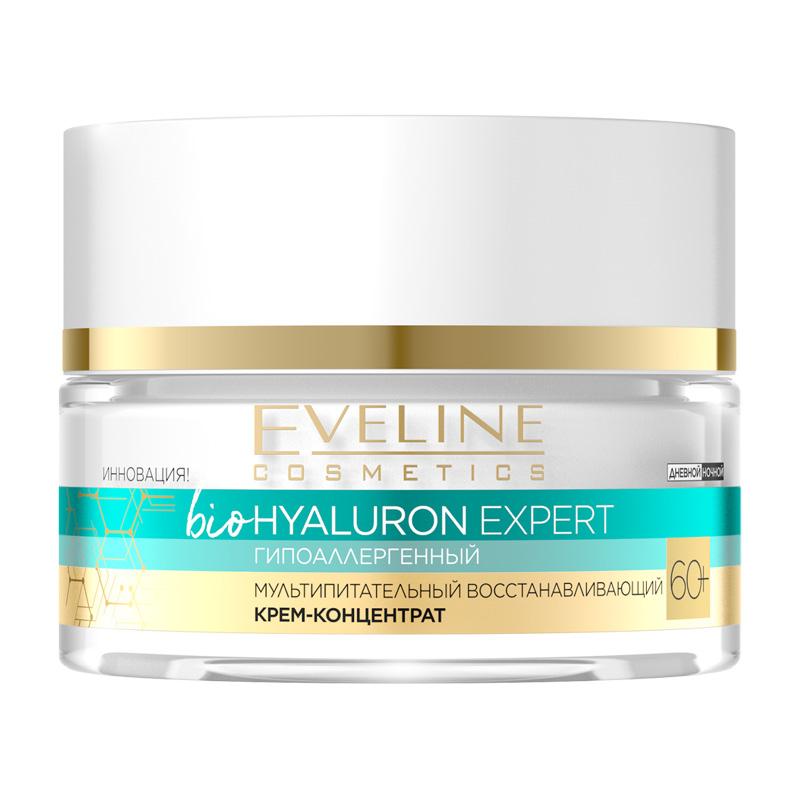 Крем-концентрат для лица Eveline Bio Hyaluron Expert 60+ мультипитательный восстанавливающий