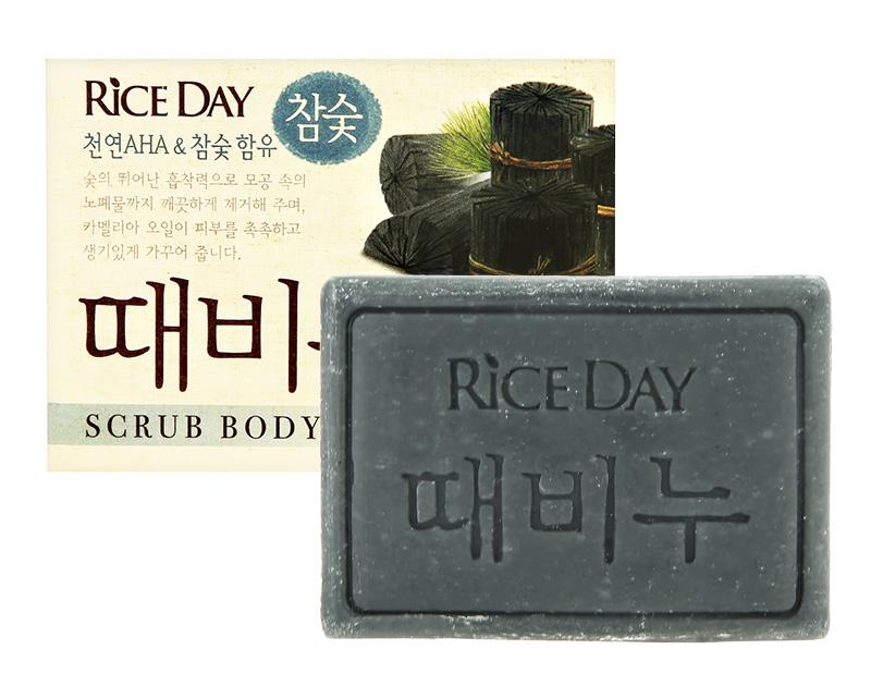 Мыло-скраб Rice Day Древесный уголь