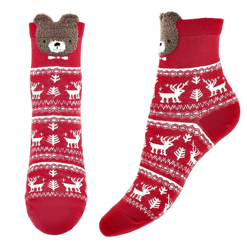 Носки женские Socks Christmas Bear