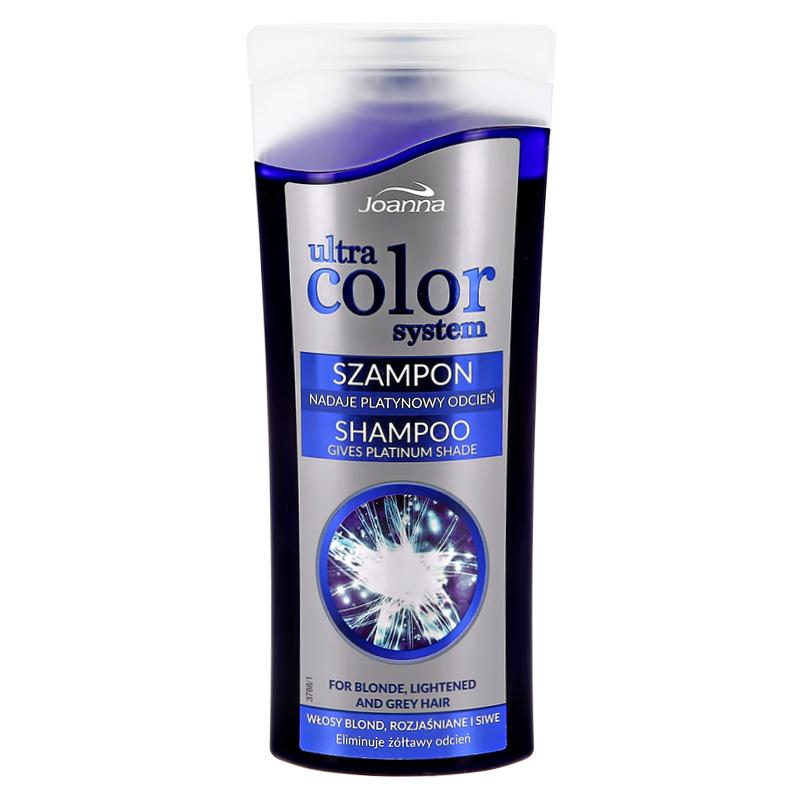 Оттеночный шампунь для волос Joanna Ultra Color System тон платиновый (против желтизны)