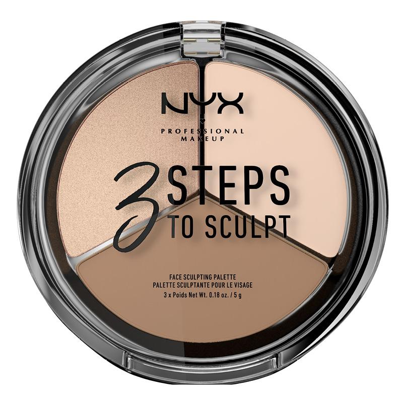 Палетка для скульптурирования NYX Professional Makeup 3 Steps To Sculpt Face тон 01 Fair