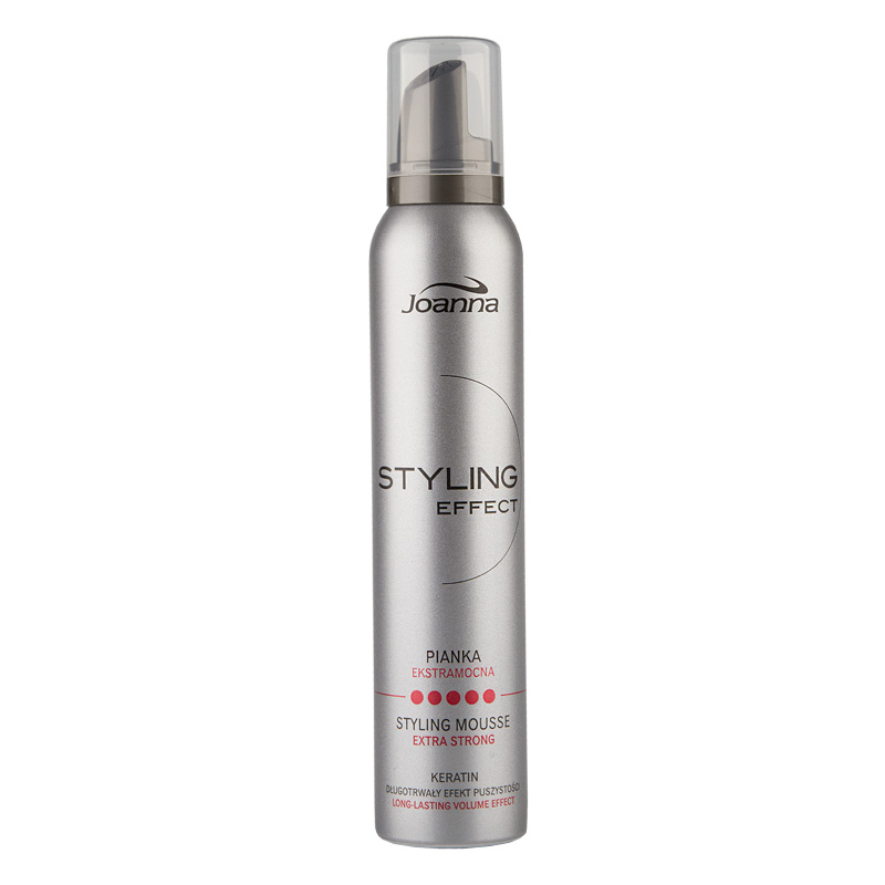 Пенка для волос Joanna Styling Effect экстрасильной фиксации с кератином