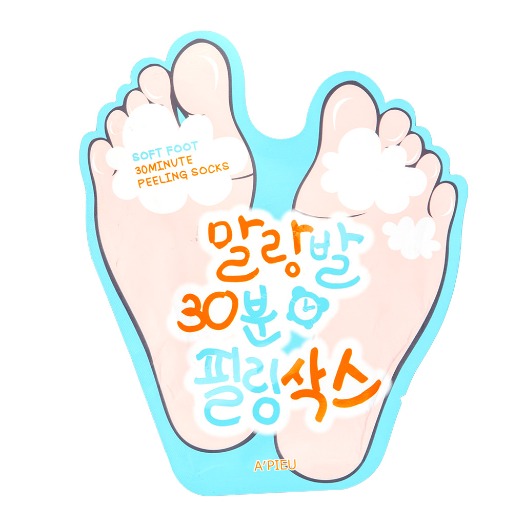 Пилинг для ног A`Pieu Soft Foot отшелушивающий с АНА и ВHA-кислотами