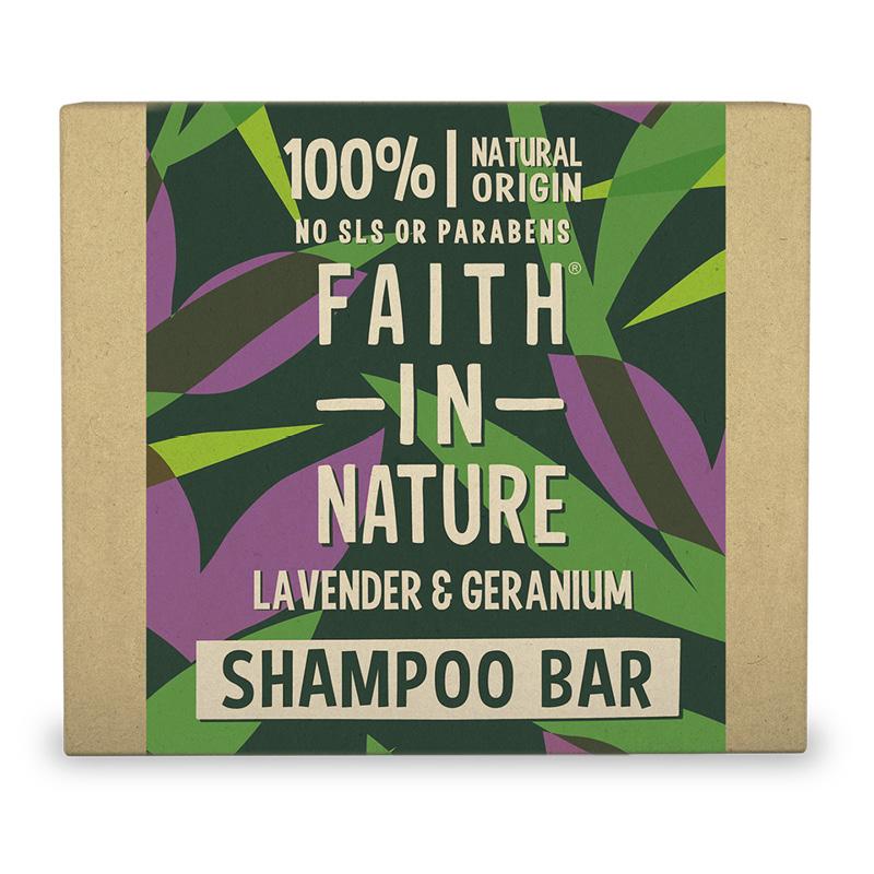 Шампунь для волос aith In Nature с экстрактами лаванды и герани (твердый)