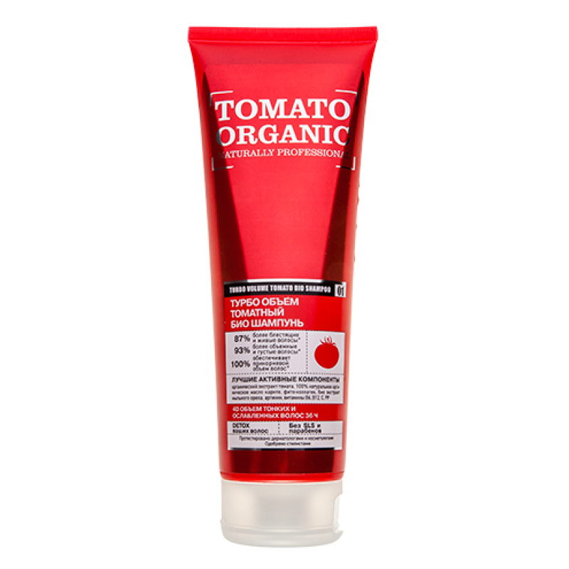Шампунь для волос Organic Shop Naturally Professional Tomato Organic Объем