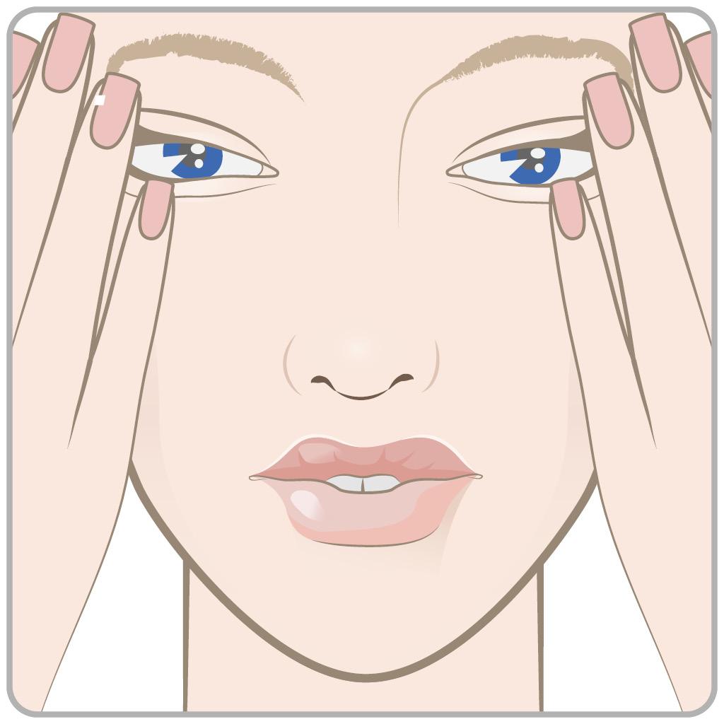 схема массаж глаз 1