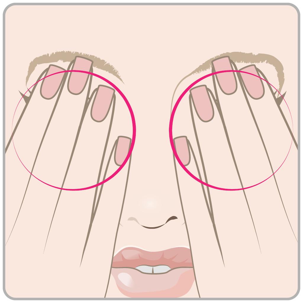 схема массаж глаз 3