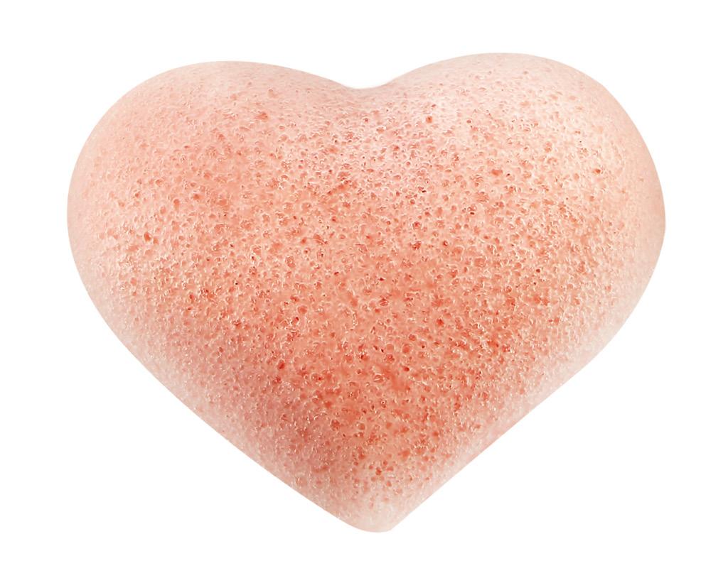 Спонж из конняку DECO. Clean Сердце (розовый)