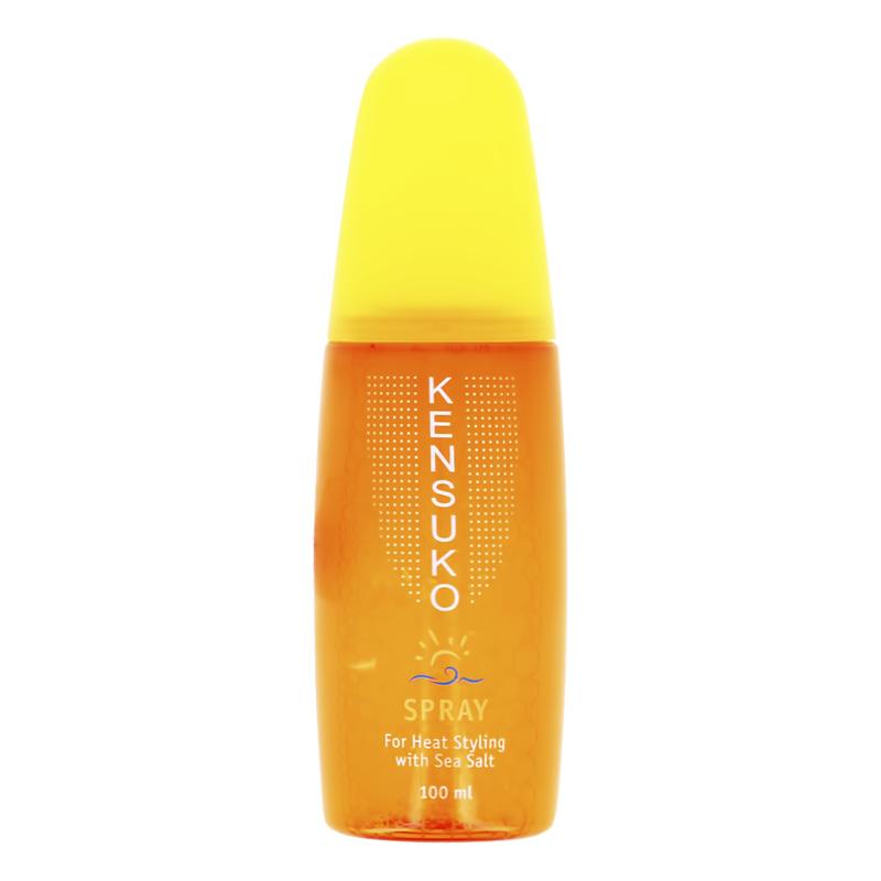 Спрей-термозащита для укладки волос Kensuko с морской солью
