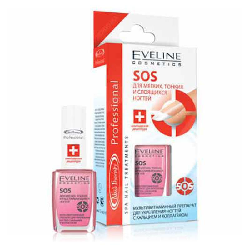 Средство для укрепления ногтей Eveline SOS с кальцием и коллагеном