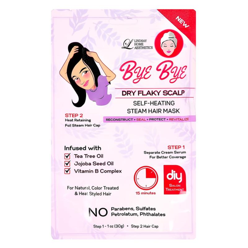 2-Ступенчатая система ухода за волосами Lindsay Bye Bye для чувствительной кожи головы (сыворотка, шапочка)