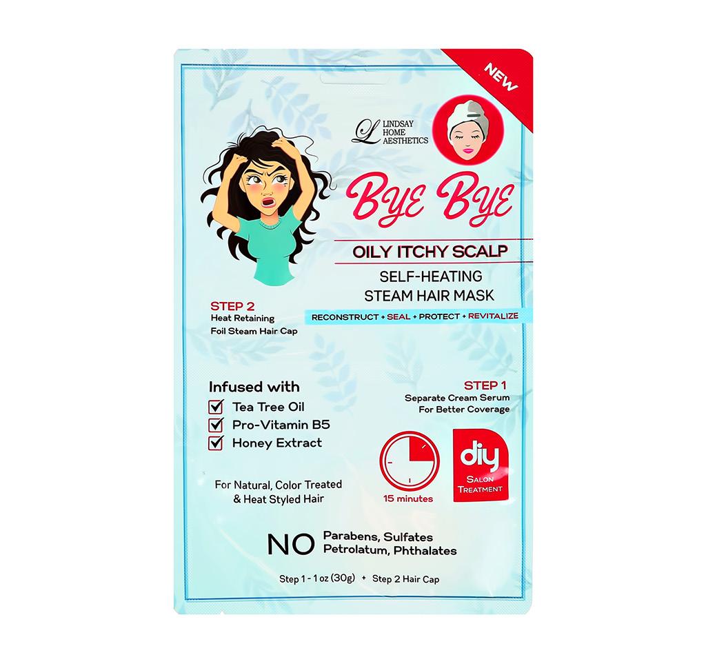 2-Ступенчатая система ухода за волосами Lindsay Bye Bye против жирности волос (сыворотка, шапочка)