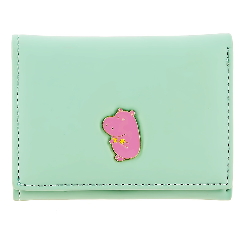 Кошелек Lady Pink зеленый с металлическим декором