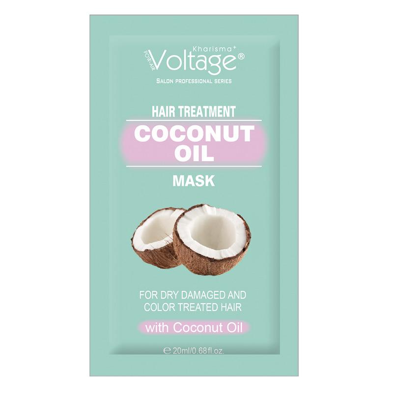 Маска для волос Kharisma Voltage с кокосовым маслом для сухих, поврежденных и окрашенных волос