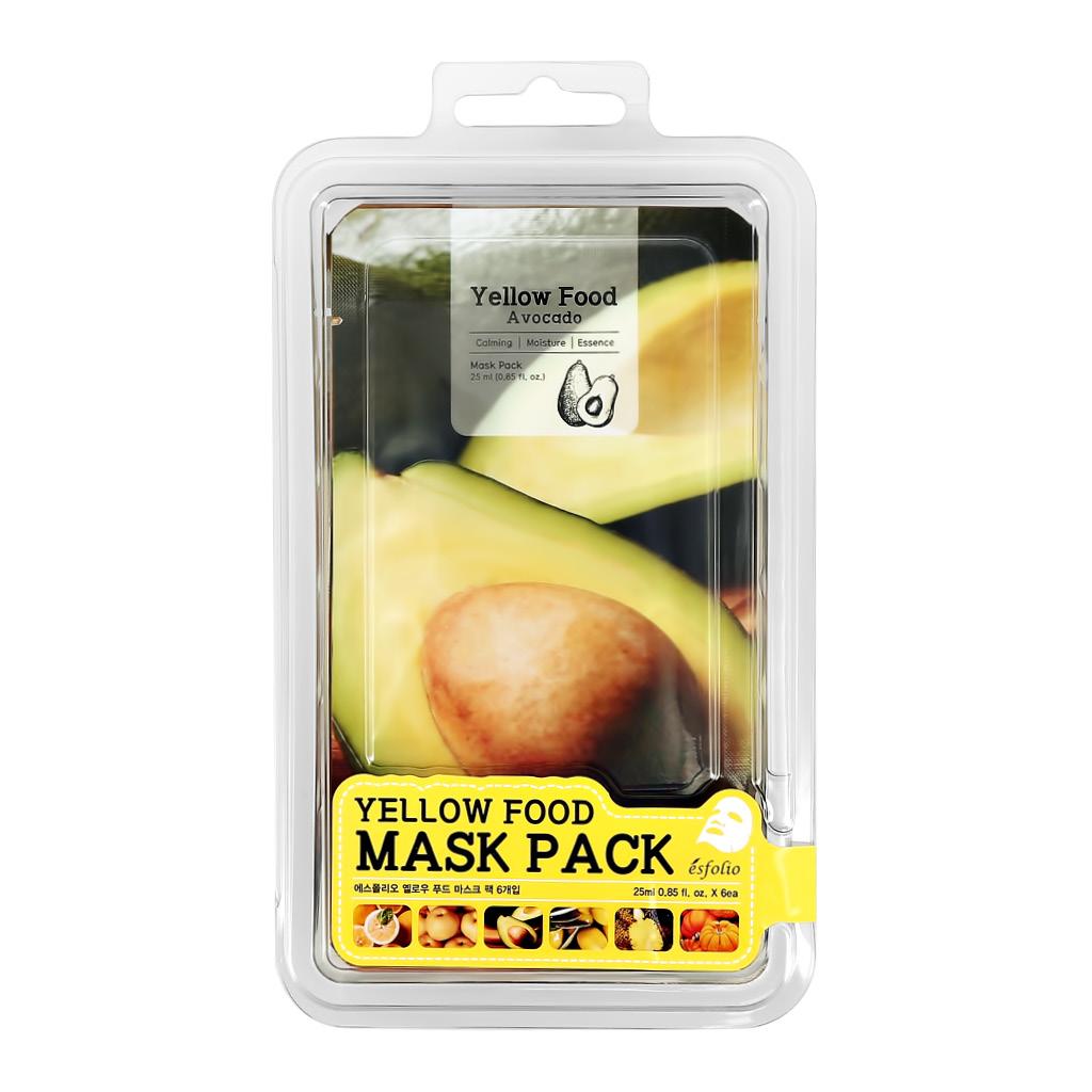 Набор масок для лица Yellow Food Esfolio