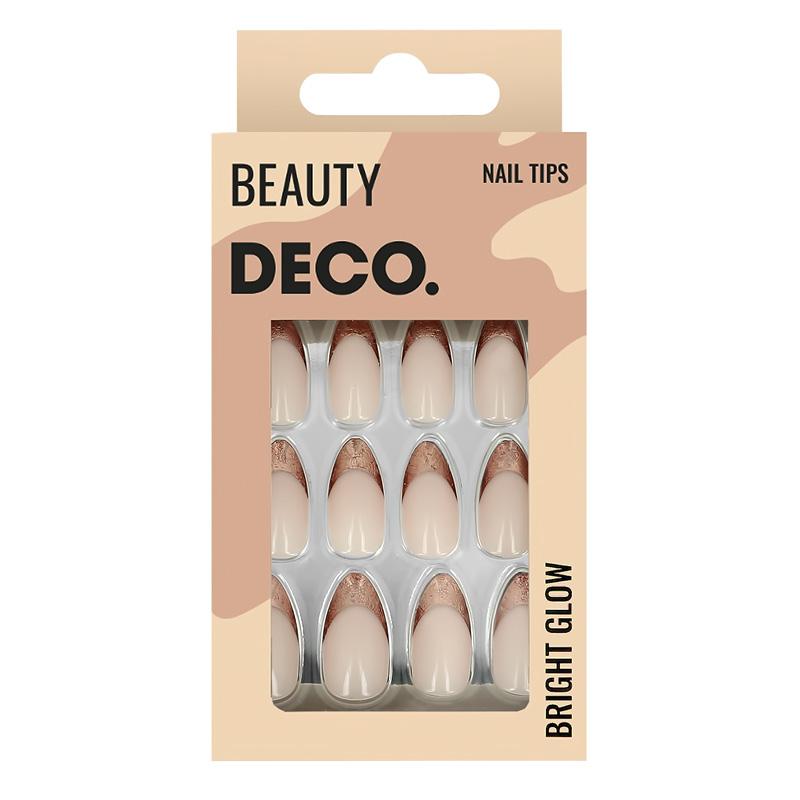 Набор накладных ногтей DECO. Bright Glow Bronze (24 шт + клеевые стикеры 24 шт)